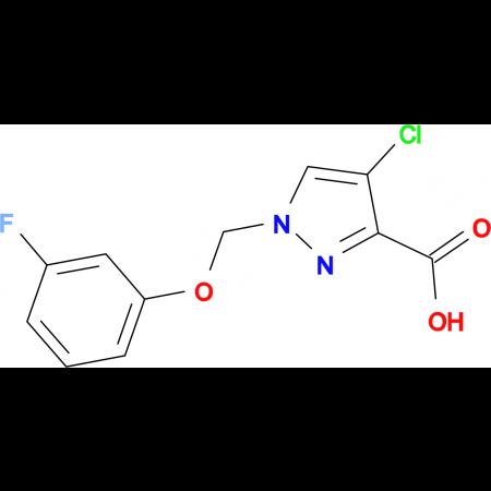 4-chloro-1-[(3-fluorophenoxy)methyl]-1H-pyrazole-3-carboxylic acid