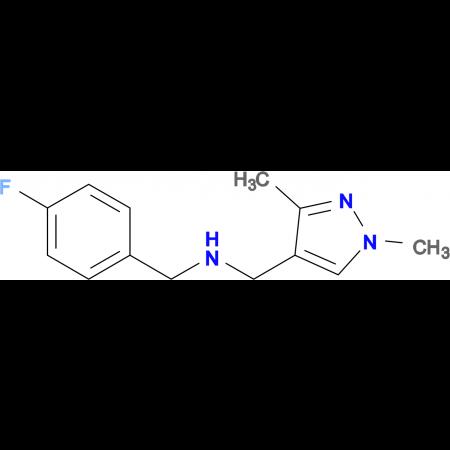 N-[(1,3-dimethyl-1H-pyrazol-4-yl)methyl]-N-(4-fluorobenzyl)amine