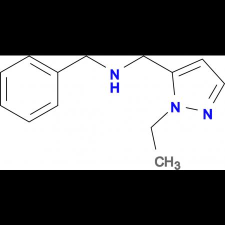 N-benzyl-N-[(1-ethyl-1H-pyrazol-5-yl)methyl]amine