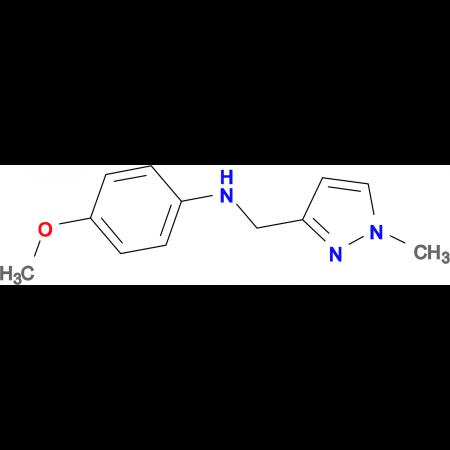 N-(4-methoxyphenyl)-N-[(1-methyl-1H-pyrazol-3-yl)methyl]amine