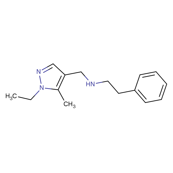 N-[(1-ethyl-5-methyl-1H-pyrazol-4-yl)methyl]-N-(2-phenylethyl)amine