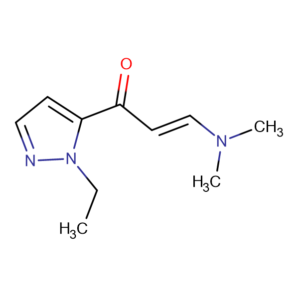 (2Z)-3-(dimethylamino)-1-(1-ethyl-1H-pyrazol-5-yl)prop-2-en-1-one