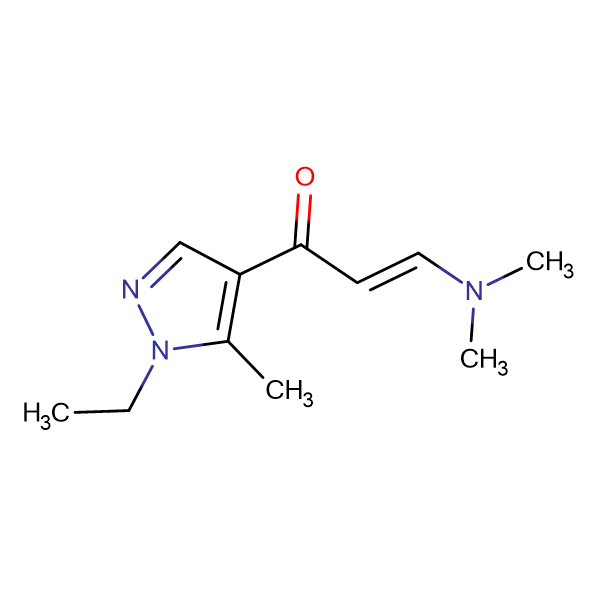 (2Z)-3-(dimethylamino)-1-(1-ethyl-5-methyl-1H-pyrazol-4-yl)prop-2-en-1-one