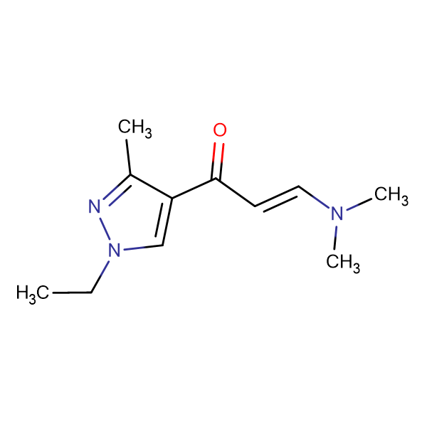(2Z)-3-(dimethylamino)-1-(1-ethyl-3-methyl-1H-pyrazol-4-yl)prop-2-en-1-one