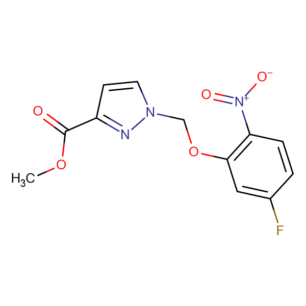 methyl 1-[(5-fluoro-2-nitrophenoxy)methyl]-1H-pyrazole-3-carboxylate