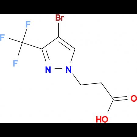 3-[4-bromo-3-(trifluoromethyl)-1H-pyrazol-1-yl]propanoic acid
