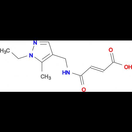 (2E)-4-{[(1-ethyl-5-methyl-1H-pyrazol-4-yl)methyl]amino}-4-oxobut-2-enoic acid