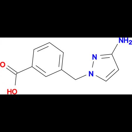 3-[(3-amino-1H-pyrazol-1-yl)methyl]benzoic acid