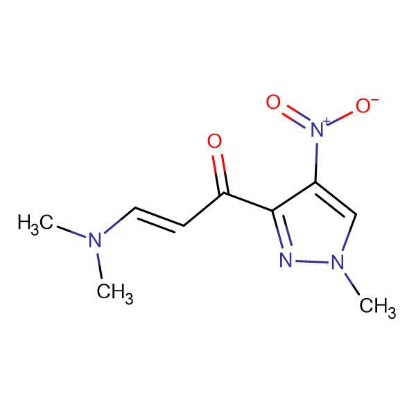 (2Z)-3-(dimethylamino)-1-(1-methyl-4-nitro-1H-pyrazol-3-yl)prop-2-en-1-one
