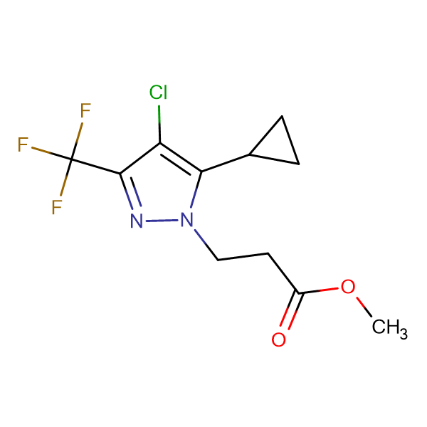 methyl 3-[4-chloro-5-cyclopropyl-3-(trifluoromethyl)-1H-pyrazol-1-yl]propanoate