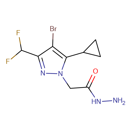 2-[4-bromo-5-cyclopropyl-3-(difluoromethyl)-1H-pyrazol-1-yl]acetohydrazide
