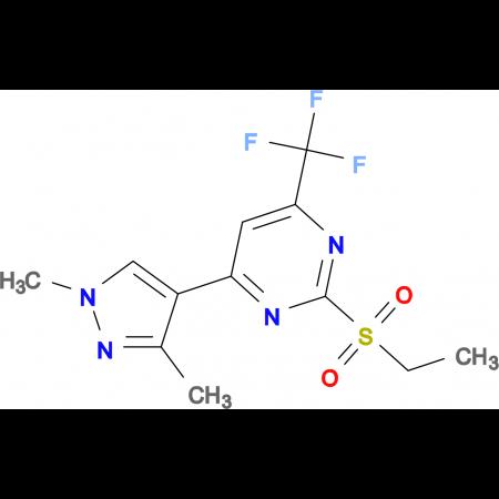 4-(1,3-dimethyl-1H-pyrazol-4-yl)-2-(ethylsulfonyl)-6-(trifluoromethyl)pyrimidine