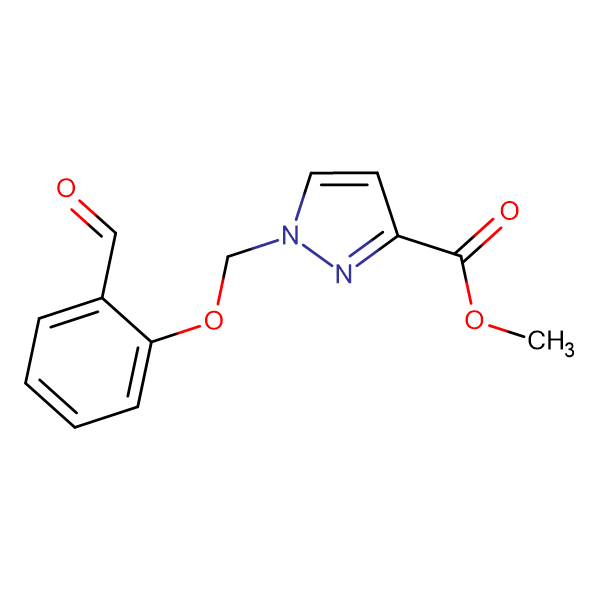 methyl 1-[(2-formylphenoxy)methyl]-1H-pyrazole-3-carboxylate
