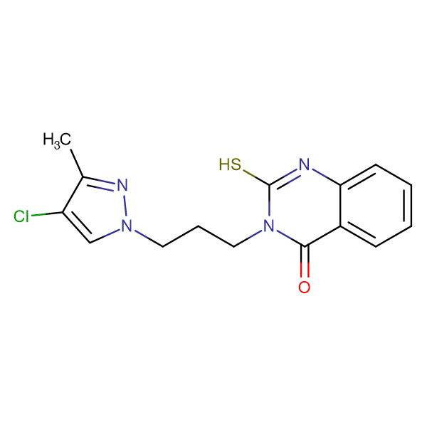 3-[3-(4-chloro-3-methyl-1H-pyrazol-1-yl)propyl]-2-mercaptoquinazolin-4(3H)-one