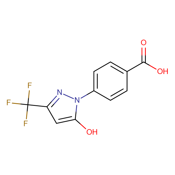 4-[5-hydroxy-3-(trifluoromethyl)-1H-pyrazol-1-yl]benzoic acid