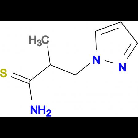 2-methyl-3-(1H-pyrazol-1-yl)propanethioamide