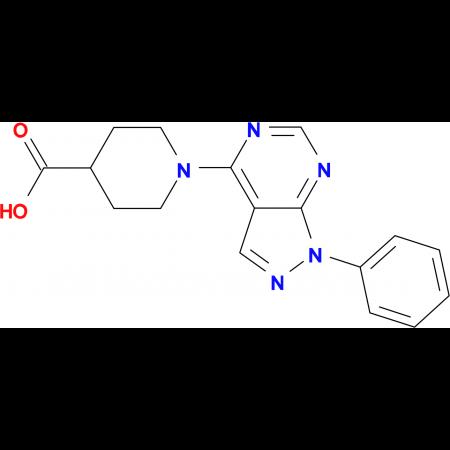 1-(1-phenyl-1H-pyrazolo[3,4-d]pyrimidin-4-yl)piperidine-4-carboxylic acid
