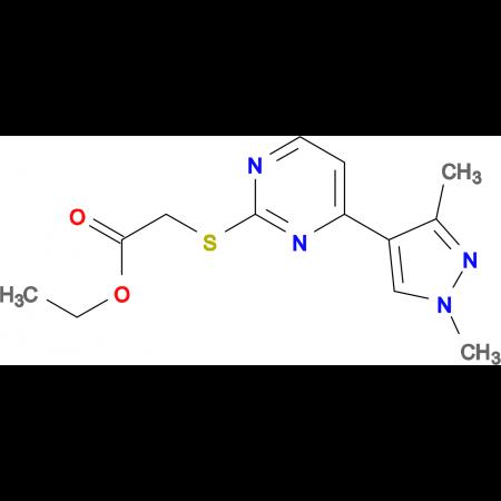 ethyl {[4-(1,3-dimethyl-1H-pyrazol-4-yl)pyrimidin-2-yl]thio}acetate