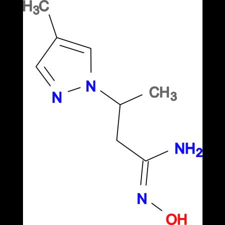 (1E)-N'-hydroxy-3-(4-methyl-1H-pyrazol-1-yl)butanimidamide