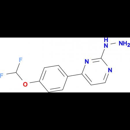 4-[4-(difluoromethoxy)phenyl]-2-hydrazinopyrimidine