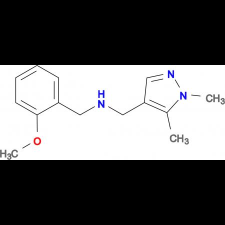 N-[(1,5-dimethyl-1H-pyrazol-4-yl)methyl]-N-(2-methoxybenzyl)amine