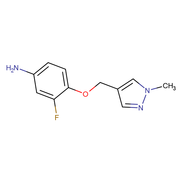 3-fluoro-4-[(1-methyl-1H-pyrazol-4-yl)methoxy]aniline