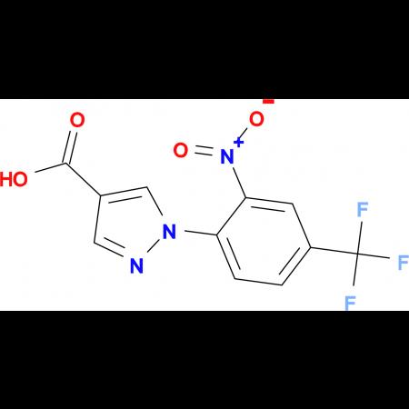 1-[2-nitro-4-(trifluoromethyl)phenyl]-1H-pyrazole-4-carboxylic acid