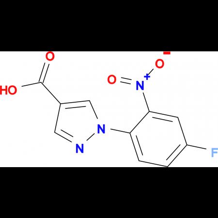 1-(4-fluoro-2-nitrophenyl)-1H-pyrazole-4-carboxylic acid