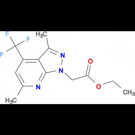 ethyl [3,6-dimethyl-4-(trifluoromethyl)-1H-pyrazolo[3,4-b]pyridin-1-yl]acetate