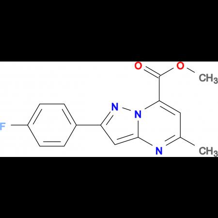 methyl 2-(4-fluorophenyl)-5-methylpyrazolo[1,5-a]pyrimidine-7-carboxylate