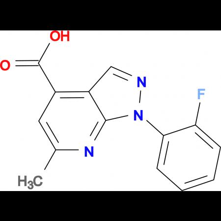 1-(2-fluorophenyl)-6-methyl-1H-pyrazolo[3,4-b]pyridine-4-carboxylic acid