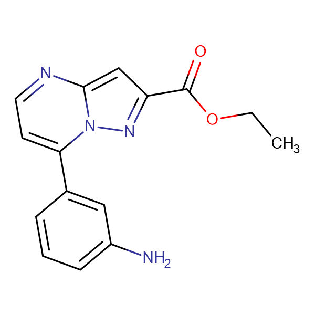 ethyl 7-(3-aminophenyl)pyrazolo[1,5-a]pyrimidine-2-carboxylate