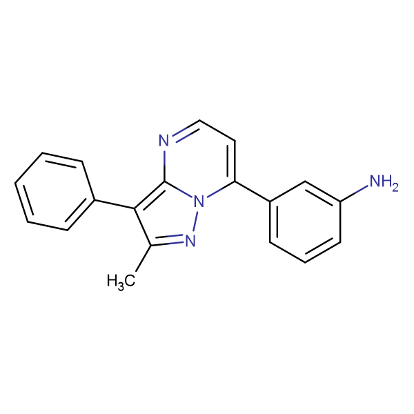 3-(2-methyl-3-phenylpyrazolo[1,5-a]pyrimidin-7-yl)aniline