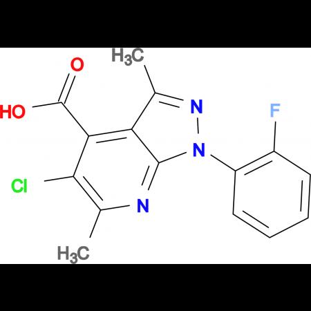 5-chloro-1-(2-fluorophenyl)-3,6-dimethyl-1H-pyrazolo[3,4-b]pyridine-4-carboxylic acid