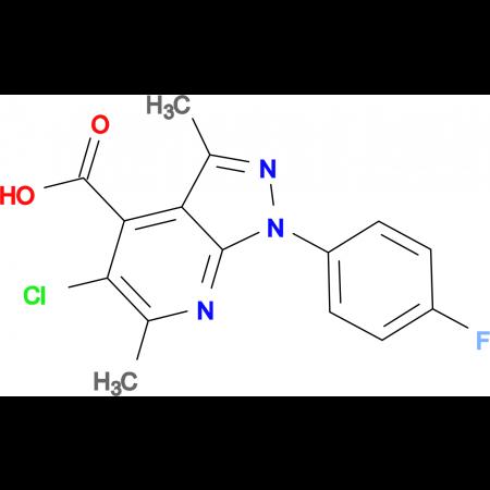 5-chloro-1-(4-fluorophenyl)-3,6-dimethyl-1H-pyrazolo[3,4-b]pyridine-4-carboxylic acid