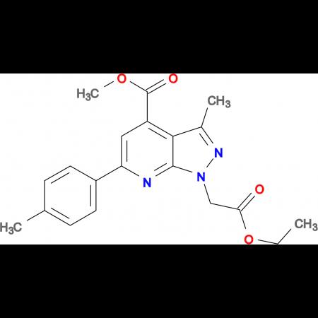 methyl 1-(2-ethoxy-2-oxoethyl)-3-methyl-6-(4-methylphenyl)-1H-pyrazolo[3,4-b]pyridine-4-carboxylate