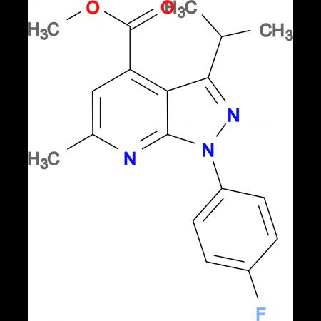 methyl 1-(4-fluorophenyl)-3-isopropyl-6-methyl-1H-pyrazolo[3,4-b]pyridine-4-carboxylate