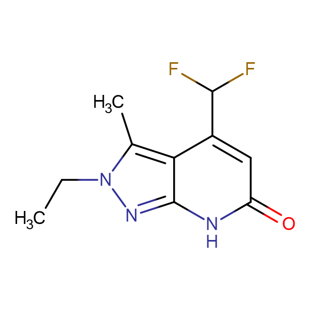 4-(difluoromethyl)-2-ethyl-3-methyl-2,7-dihydro-6H-pyrazolo[3,4-b]pyridin-6-one