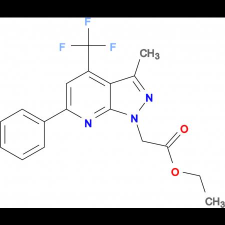 ethyl [3-methyl-6-phenyl-4-(trifluoromethyl)-1H-pyrazolo[3,4-b]pyridin-1-yl]acetate