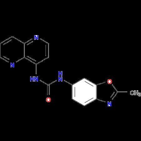 1-(2-Methylbenzo[d]oxazol-6-yl)-3-(1,5-naphthyridin-4-yl)urea