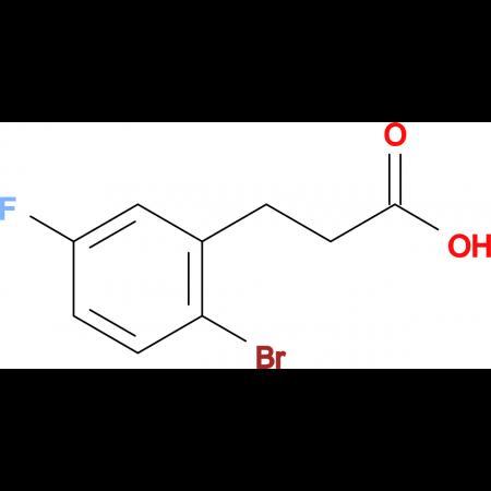 2-Bromo-5-fluorobenzenepropanoic acid