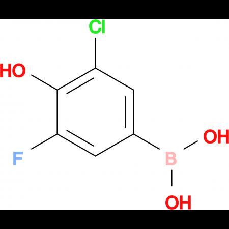 (3-Chloro-5-fluoro-4-hydroxyphenyl)boronic acid