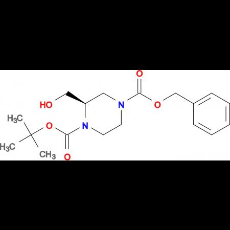 (R)-4-Benzyl 1-tert-butyl 2-(hydroxymethyl)piperazine-1,4-dicarboxylate