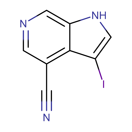 3-Iodo-1H-pyrrolo[2,3-c]pyridine-4-carbonitrile