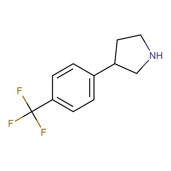 3-(4-(Trifluoromethyl)phenyl)pyrrolidine