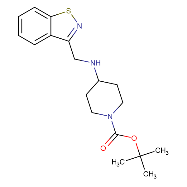 tert-Butyl 4-((benzo[d]isothiazol-3-ylmethyl)amino)piperidine-1-carboxylate