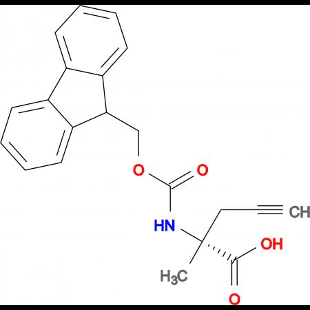 (R)-2-((((9H-Fluoren-9-yl)methoxy)carbonyl)amino)-2-methylpent-4-ynoic acid