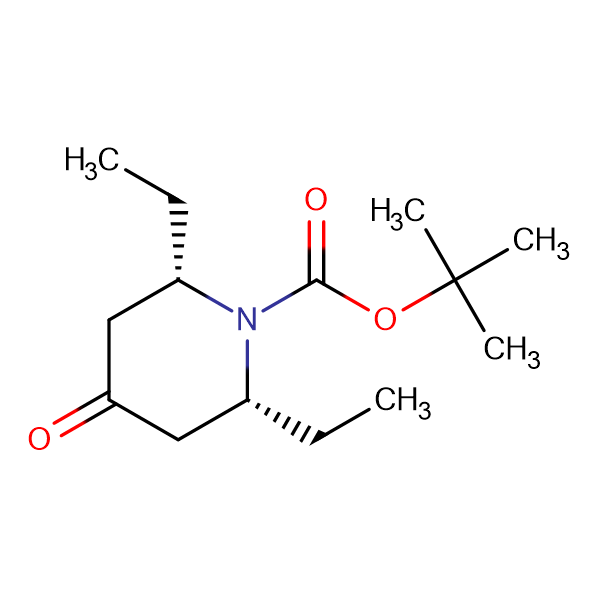 (2R,6S)-rel-tert-Butyl 2,6-diethyl-4-oxopiperidine-1-carboxylate