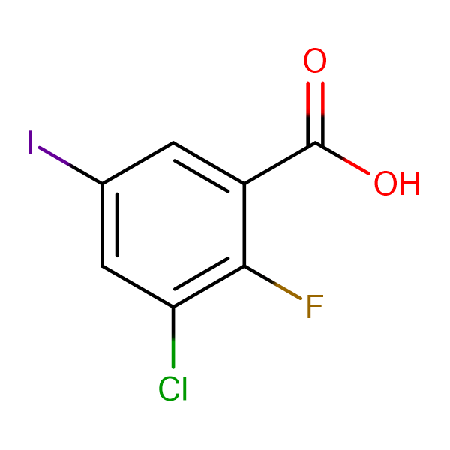 3-CHLORO-2-FLUORO-5-IODOBENZOIC ACID