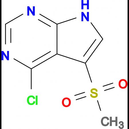 4-CHLORO-5-(METHYLSULFONYL)-7H-PYRROLO[2,3-D]PYRIMIDINE
